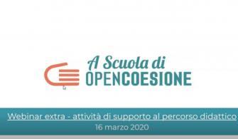 ASOC1920 Webinar EXTRA - Sessione di supporto per DOCENTI E RETI TERRITORIALI